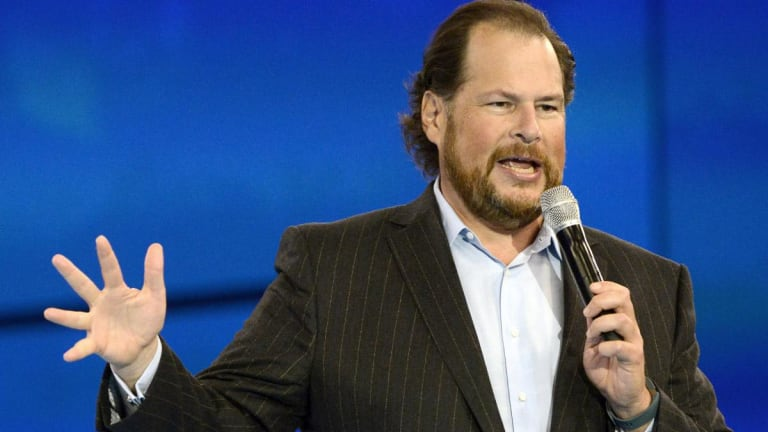 Salesforce Co-CEOs Hail 'Inclusive Capitalism', Show off New Technology