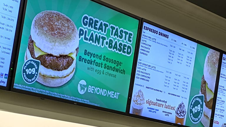 Dunkin' Donuts to Add Beyond Meat's Plant-Based Sausage Sandwich to Menu