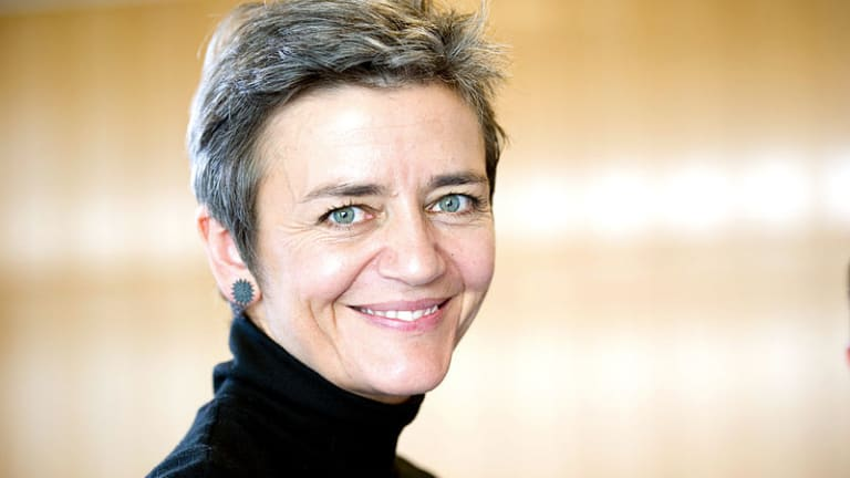 EC's Vestager Worried About 'Four-to-three' Telecoms Deals