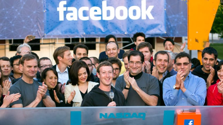 Facebook Falls Back After Breaching $38 IPO Price