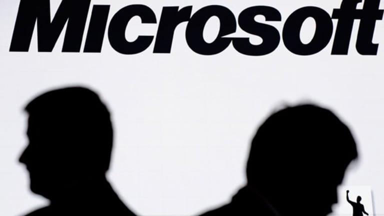 Microsoft Misses, Shares Slide