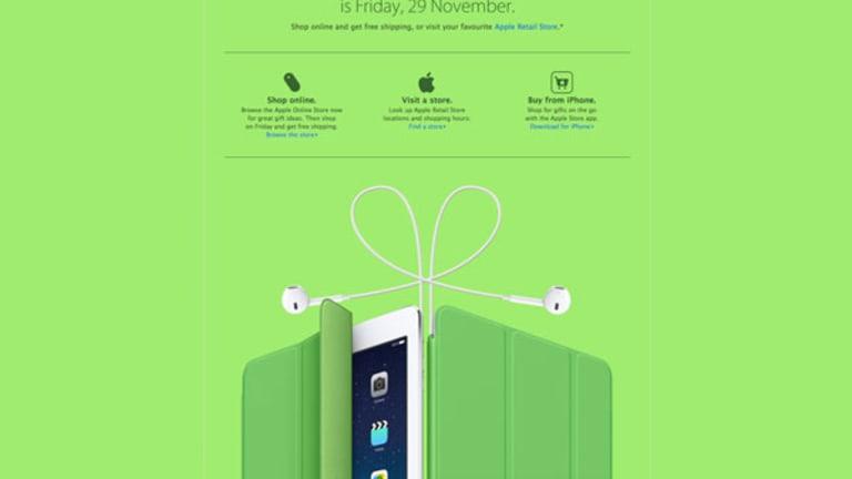 Apple Black Friday Ad Hints at iPads