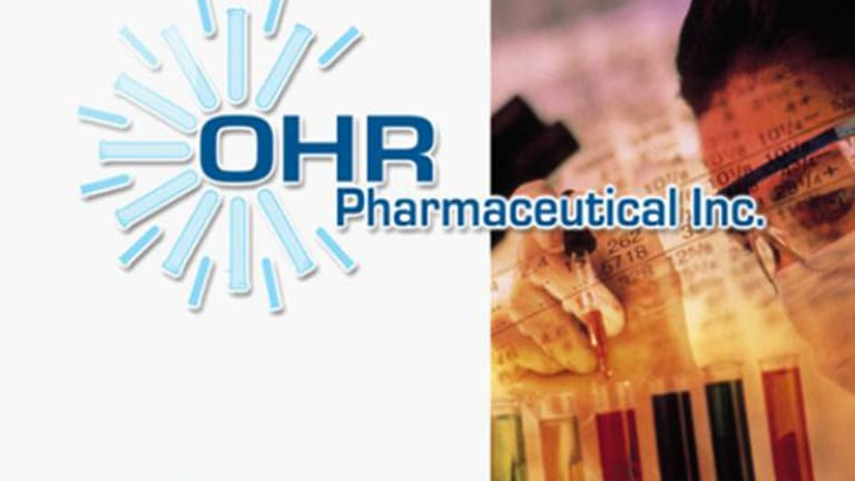 Ohr Pharma (OHRP) Stock Surges After Launching Phase 3 Trial