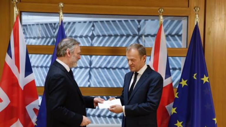 European Council President Tusk Receives Article 50 Letter From UK Ambassador