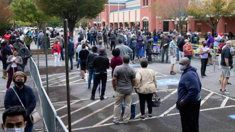 Massive Lines in Georgia on First Day of In-Person Voting Exemplify Ongoing 'Voter Suppression,' Say Critics