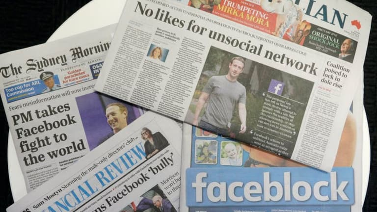 Facebook's news blockade in Australia shows how tech giants are swallowing the web