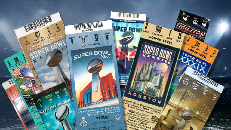 History of Super Bowl Ticket Prices