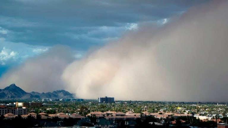 Increased deaths and illnesses from inhaling airborne dust
