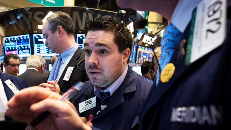 Dow Jumps Nearly 100 Points as Nasdaq, S&P 500 Slide