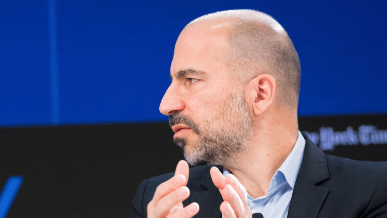 Uber Rises on Earnings Report, Says Competition With Lyft to Get 'More Healthy'