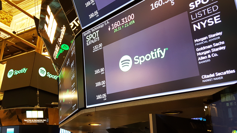 Spotify Shares Rise as Music Streamer Reportedly Eyes Gimlet Media