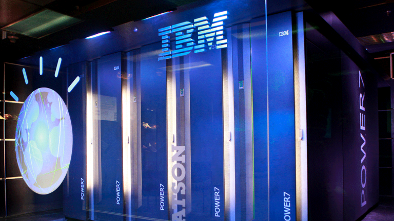 IBM Slides as 'Tax Headwind' Hits 2018 Outlook After Long-Awaited Sales Win