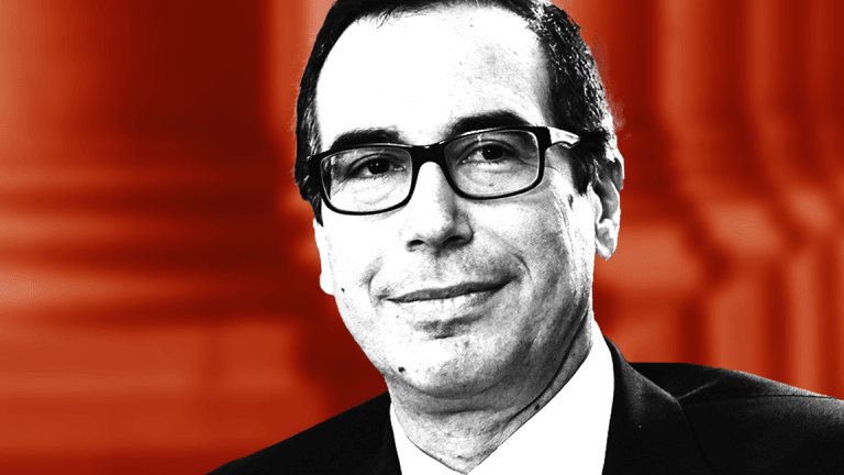 Treasury Secretary Mnuchin: 'Take the Over' on U.S. GDP Topping 3% This Year