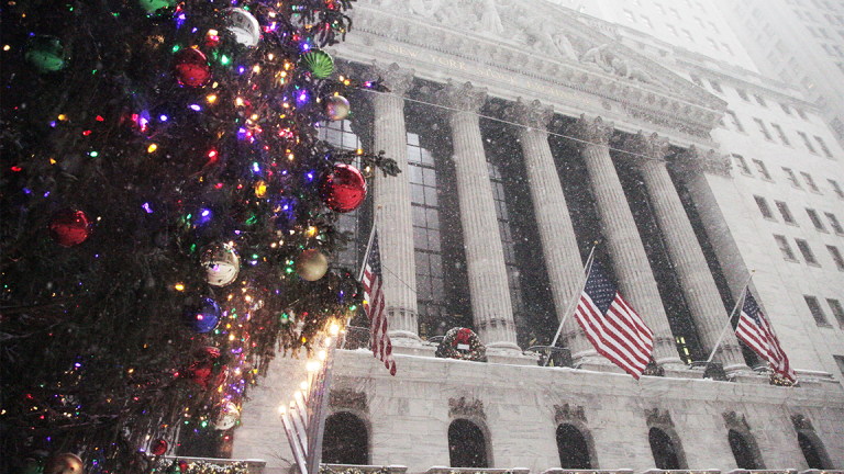 Dow Finishes Above 25,000 for First Time; S&P 500 and Nasdaq Also Hit New Highs