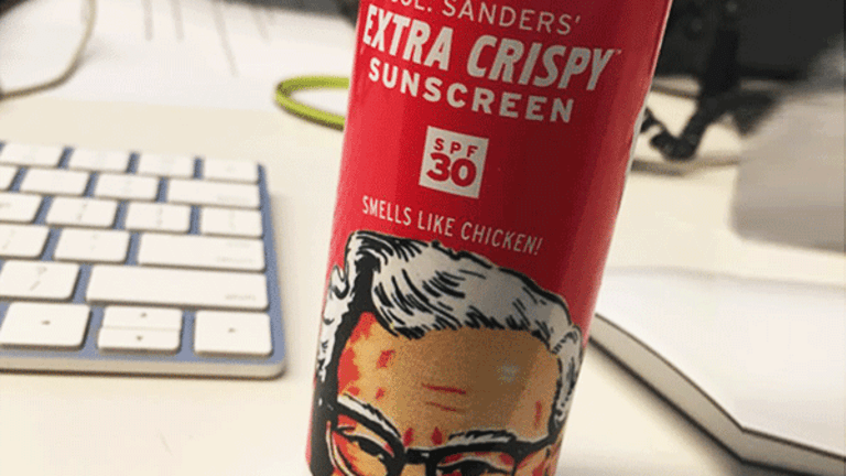 KFC's Fried-Chicken Scented Sunscreen Gets People Talking on Wall Street