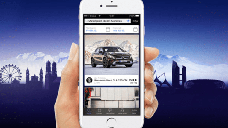 Daimler Rolls Out 'Croove,' Its Peer-to-Peer Vehicle Rental Service in Munich
