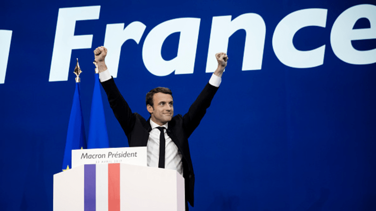 French Stocks Top 9-Year High; Dow Set for 200-Point Gain After French Election Win for Macron