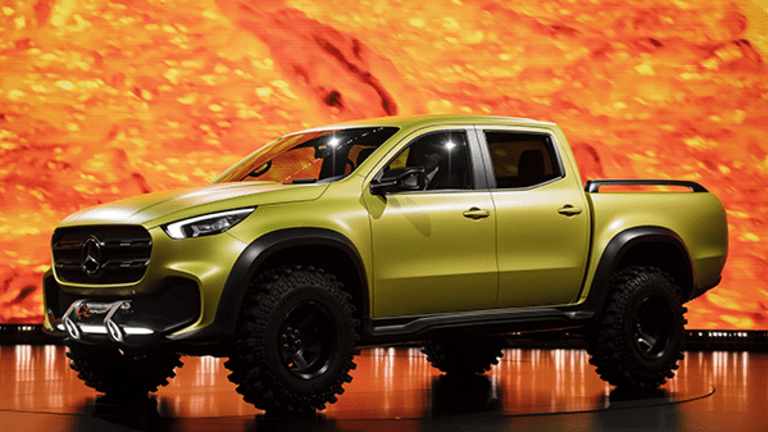 This Isn't an Optical Illusion: You Could Be Looking at the First-Ever Mercedes Luxury Pickup Truck