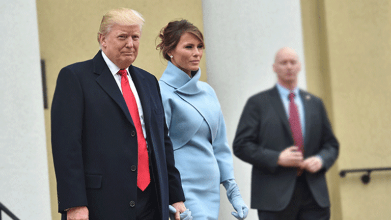 Melania Trump Channels Style Icon Jackie O. With Custom Ralph Lauren Inauguration Outfit