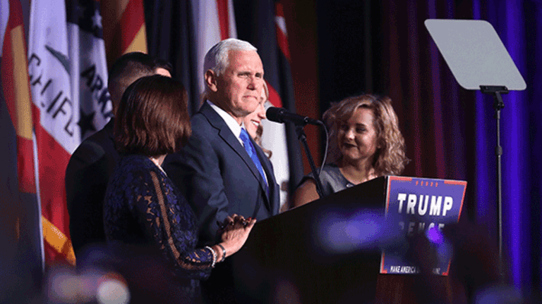 Pence Starts PAC to Fund Travel, Buy Emails as Trump Woes Grow