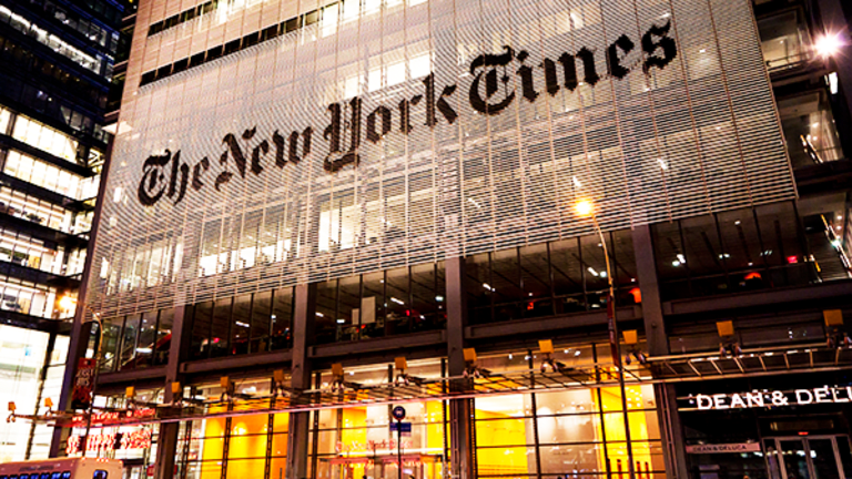 New York Times Shares Up as Results Beat Forecasts, Ad-Revenue Outlook Weakens
