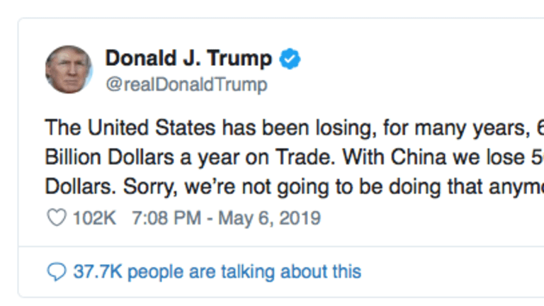 Trump Doubles Down: 'We're Not Going To Lose To Beijing Anymore'