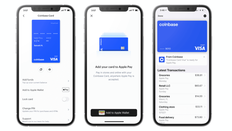 Coinbase Card Users Can Now Spend Crypto With Apple and Google Pay
