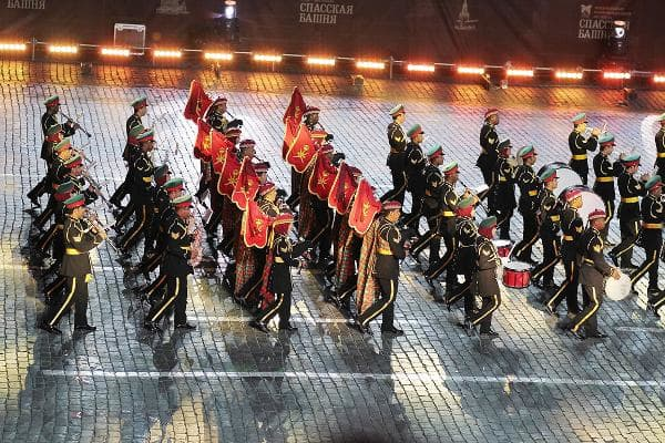 1. OmanPercent of GDP spent on military: 13.73%The military band of the Royal Guards of Oman and the Special Arts Troupe perform during an international festival of military bands in Moscow.Photo: Deniza 40x / Shutterstock