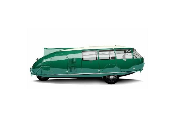 Dymaxion, 1933The Dymaxion three-wheeled car was designed by inventor Buckminster Fuller during the Great Depression and featured at Chicago's 1933-34 World's Fair. Fuller built three experimental prototypes in hopes of developing something that might one day be designed to fly, land and drive. Who doesn't want that? The rear wheels steered like a rudder on a ship, and the vehicle could pivot 90 degrees. It had a periscope instead of a rear window. There's a Dymaxion on display at the National Automobile Museum in Reno.Photo: Starysatyr Wikipedia