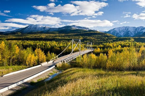 1. Alaska HighwayThe historic Alaska Highway actually starts in British Columbia, and winds its lonely way through the Yukon Territory. It originally ended in Delta Junction, but you can continue on to Fairbanks. The trip is about 1,459 miles. Photo: Shutterstock