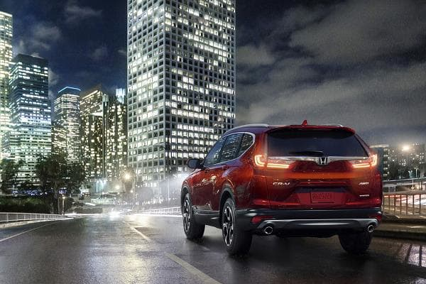 Honda CR-VPrice starts at: $24,150MPG: Up to 28 city / 34 highwayThe Honda CR-V was the most researched SUV on Edmunds, which gave it four out of five stars. Edmunds' reviewers like the turbocharged version and the thoughtful storage areas.Photo: Honda