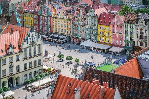 """1. Wroclaw, PolandKnown as the """"Polish Venice"""" because of its canals and many bridges that connect 12 islands, Wroclaw sits on the Oder River in western Poland. The Market Square features the Gothic Old Town Hall, with a large astronomical clock.Photo: Shutterstock"""