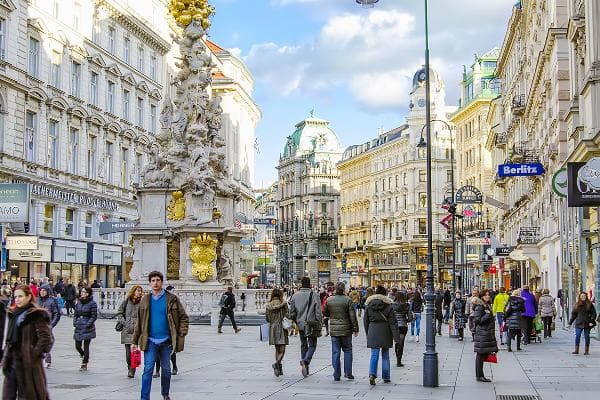 1. ViennaThe Austrian capital has made the top of this list for a decade, with the best quality of living in the world. Pictured is Grabenstrasse, the main street in old town Vienna.As many as 13 of the world's top 20 spots were taken by European cities.Photo: Reidl / Shutterstock