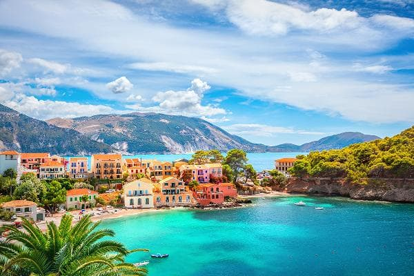 Asos, Kefalonia, GreeceThis 500-year-old Greek village has crystal clear waters and a mild climate throughout the year. Enjoy the sun and beaches, as well as the region's local wines and cheeses at the nearby mountain vineyards.Photo: Shutterstock
