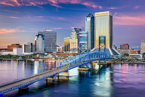 1. Jacksonville, Fla.Cost: $3.5 billion for 632 miles of seawallsPopulation: 892,000Avg. cost per person: $3,990Photo: Sean Pavone / Shutterstock