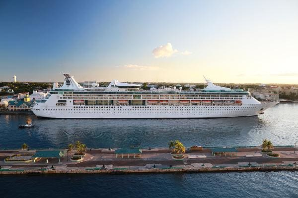 Enchantment of the Seas Royal Caribbean InternationalInspection date: July 12, 2019Score: 100Above, Royal Caribbean's Enchantment of the Seas docked in the Bahamas.Photo: Nazar Skladanyi / Shutterstock