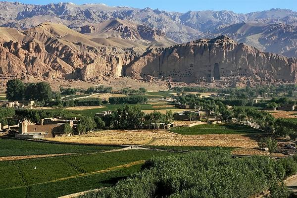 Wonders of the World That Are in Imminent DangerBamiyan Valley, AfghanistanThe cultural landscape and archaeological remains of the Bamiyan Valley date back to the first to 13th centuries, and contain numerous Buddhist monastic ensembles and sanctuaries, as well as fortified edifices from the Islamic period. Two standing Buddha statues were destroyed by the Taliban in March 2001. This image shows the valley and the niches in the cliff where the Buddhas once stood.Photo: Shutterstock