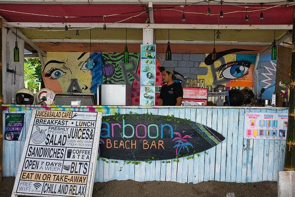 "Canggu, Bali, IndonesiaCost: $1,263 a monthInternet speed: 20 mbpsOne user on Nomad List called Canguu a great place to be a digital nomad. ""Internet is great. Food is insanely good, people are very nice.""Above, a beach bar on the Canggu beach.Photo: Sharon Wildie / Shutterstock"
