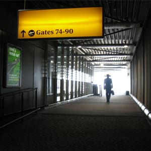 """Looking for a cheap vacation? Well, the first step is choosing your airports carefully. You might want to steer clear of these airports, if possible. The Bureau of Transportation recently compiled sales data for all the airports in the U.S. from the third quarter of 2009 in order to figure out the average cost of flying from each one. (The only ones left out were those in Hawaii, Alaska and Puerto Rico.) The good news for travelers is that prices decreased significantly in 2009. The average domestic fare was $306, which is 14.4% less than the same time in 2008. However, some airports actually reported higher fares than the year before. Boo. The numbers are based on domestic round-trip tickets and include any taxes or fees added to the ticket price """"at the time of purchase."""" However, this does not include baggage fees or any add-ons to your bill that may come later. So here they are, the 10 most expensive airports in the U.S. and the five cheapest. Photo Credit: maxf"""