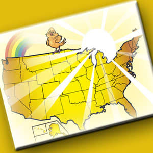It's been about three months since the last happiness index, and the top spots remain occupied by heartland states. Nebraska, again is the winner, followed by Iowa and Kansas. There have been some big movers. Minnesota and New Hampshire are now in the top ten. As far as the least happy states, Florida, with huge unemployment, debt and foreclosure rates, still maintains it's place at the bottom, and Illinois has dropped into the bottom ten as well.