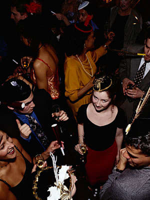 """Here's a roundup of New Year's Eve parties for globetrotting somebodies, or nobodies with money and plenty of air miles to spare on short notice. But if you don't wind up at any of these posh events, don't worry: according to the Book of Odds, the odds people can """"expect to be at home at midnight on New Year's Eve are 1 in 1.59 (63%)."""" Yikes. So how many of us will be getting our drink on? Well, according to Book of Odds, """"1 in 4.17 adults will attend a New Year's Eve party and 1 in 2.27 (44%) will enjoy a cocktail of some sort."""" Well, without further ado, here are the parties: Photo Credit: Getty Images"""