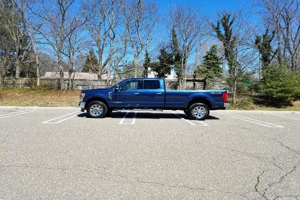 The King Ranch is more than 21 feet long. Parking this beast requires skill, and patience.