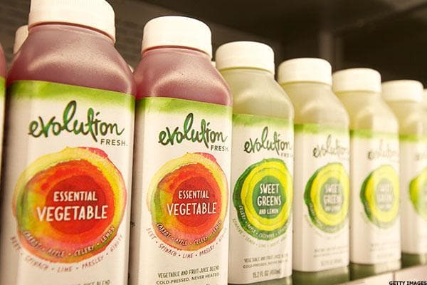 """Starbucks purchased cold-pressed juice maker Evolution Fresh for $30 million in 2011. The coffee giant said at the time of the purchase that it wanted to gain a footing in the health and wellness space. Starbucks opened four Evolution Fresh juice bars after the acquisition, but earlier this year decided to ditch the retail concept and halt all further expansion. It also opened a $70 million juice making facility in California in 2013.The drinks are still sold in supermarkets and Starbucks stores. Evolution Fresh competes with category leader in PepsiCo's Naked juice brand, as well as seemingly zillions of other brands that have entered the cold-pressed juice market since 2011.Starbucks says the brand is now available in 20,000 points of distribution, and is """"thriving."""""""