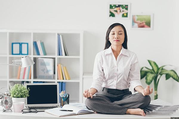 """Who wouldn't want a calming, soul-cleansing meditational experience to wash the anxiety away in the workplace? Turns out, many people do. """"A top perk that people love and get productivity benefits out of are mediation sessions,"""" says Lu Chen, senior director of growth marketing at THINX, a maker of """"taboo-breaking"""" period underwear. """"Some of our employees take a meditation break in a middle of a day."""" Chen says there's a good reason for that, all around. """"When you see there's a demand for a quiet space to relax and re-center, you can start organizing it into a formal program where more employees can enjoy the perk,"""" she explains."""