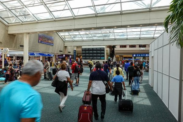U.S. Airports With the Longest Wait Times:1. Orlando International Airport (MCO)Average wait time: 25.8 minutesTotal annual passengers processed: 7.78 millionThe study also examined the best and worst times to arrive at the major airports, in terms of wait times. For Orlando, the shortest wait times in 2018 were midnight to 1 a.m., with an average wait of 13.2 minutes, and the busiest time was 5 a.m. to 6 a.m., with an average wait of 33.9 minutes.Photo: Joni Hanebutt / Shutterstock