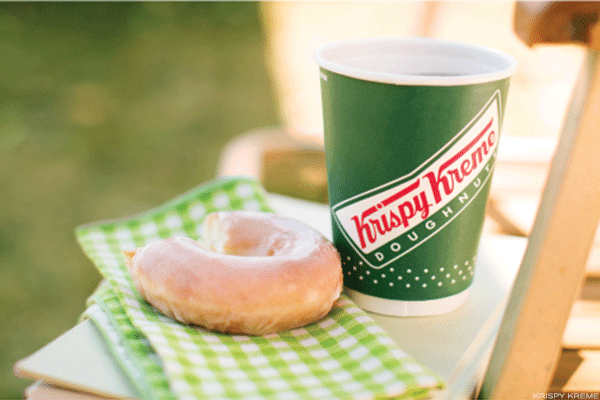 The recently acquired Krispy Kreme churns out some of the sweetest-tasting donuts around. Couple that with the fact the chain's donuts are notoriously airy (whereas Dunkin' Donuts makes heavier, cake-like ones), it makes sense people would crave the stuff around the clock. Four-fifths of its customers surveyed said that they can't find Krispy Kreme like donuts anywhere else.