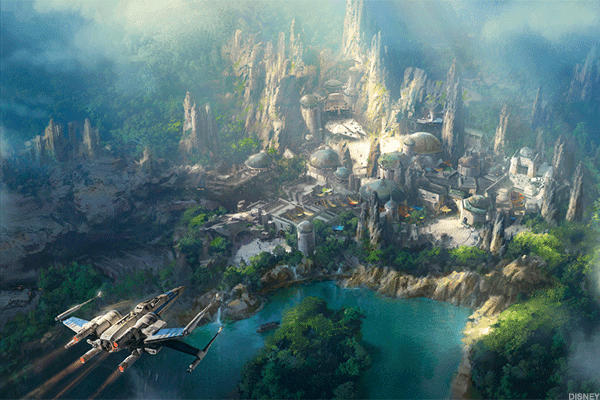 """Another, move-inspired area, Hollywood Studios' Star Wars Land is currently under construction at Disney World and Disneyland in California. Disney said certain """"offerings"""" from the Star Wars Lands, set to be its largest spaces across both parks, could be available to consumers later this year.The 14-acre interactive land will allow guests to dive deep into the story of Star Wars and the lives of its characters. Guests will even get toboard the Millennium Falcon."""
