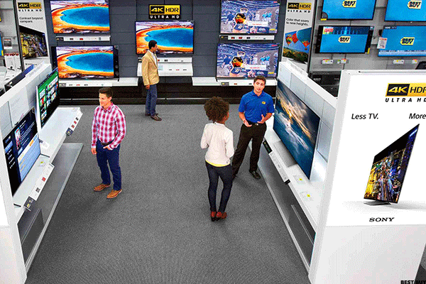 HHGregg mostly retails furniture and appliances including chairs, refrigerators and tables. But, it also sells a good amount of electronics such as computers, wearables, headphones and everything else Best Buyis known for. More than 32% of Best Buy's annual sales come from consumer electronics, while over 8% are derived from appliances.Best Buy reported a fourth quarter revenue miss and a same-store sales slip of 0.9% in North America. Execs blamed weak revenue on declines in the phones, tablets, wearables, computing and drones categories. So if HHGregg vanishes, those struggling categories for Best Buy may improve.