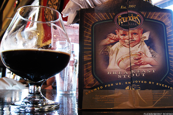 Price:$750This stout that blends chocolate, coffee and maple syrup flavors before aging them in bourbon barrels is a gem, but it's also a key part of this Grand Rapids, Mich.-based brewery's history. This was released just before Founders announced the sale of a 30% stake of the brewery to Spanish brewer Mahou San Miguel. With those resources, Founders expanded production from 41,000 barrels of production in 2011 to 465,000 this year. This particular release of CBS is still quite rare, but don't expect to see future releases fetching this price on MyBeerCellar.com or other sites.