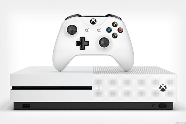 Current price on Amazon:$316.99Prime Day deal price: $268.73Description: This bundle includes a Microsoft Xbox One S 1TB Console, a game download for Forza Horizon 3 for both Xbox One and Windows 10 PC, an Xbox wireless controller and an HDMI cable. Forza Horizon 3 is a car racing video game published by Microsoft Studios.
